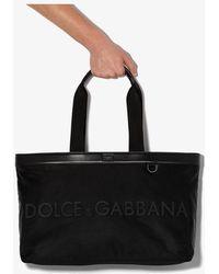Dolce & Gabbana Black Logo Weekend Holdall Bag