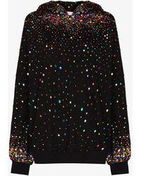 Ashish Sequin Embellished Hoodie - Black