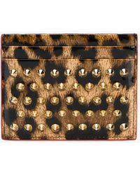 Christian Louboutin - Leopard Print Cardholder - Lyst
