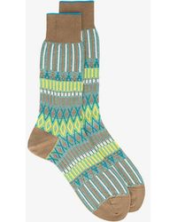 Ayamé - Basket Lunch Knitted Pattern Socks - Lyst