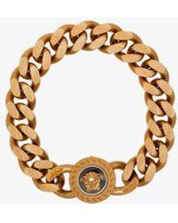 Versace Gold Chain Medusa Bracelet - Metallic