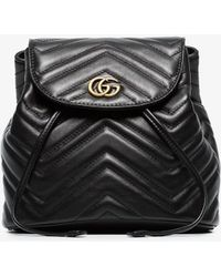 62982778739c Lyst - Gucci Marmont Animal Studs Leather Belt Bag in Black