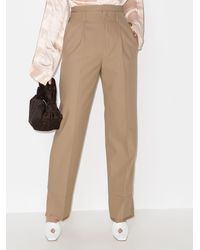 Commission Layered High Waist Pants - Natural