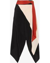 Kitx - Draped Knotted Asymmetric Silk Skirt - Lyst