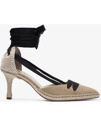 Manolo Blahnik - X Manolo Blahnik Neutral 70 Espadrille Court Shoes - Lyst