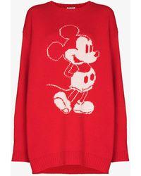 Miu Miu Mickey Mouse Mini Jumper Dress - Red