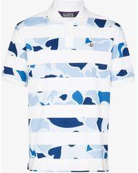 BBCICECREAM Camo Stripe Polo Shirt - Blue