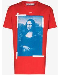 Off-White c/o Virgil Abloh - Mona Lisa Print Cotton T-shirt - Lyst