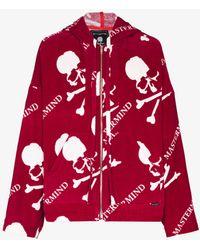 Mastermind Japan Mastermind World Skull Zip-up Hoodie - Red
