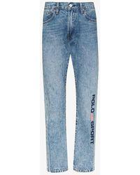 Polo Ralph Lauren Varick Logo Straight Leg Jeans - Blue