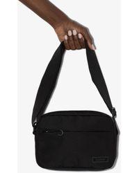 Ganni Logo Patch Cross Body Bag - Black