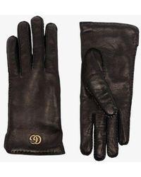 Gucci Black Maya GG Leather Gloves