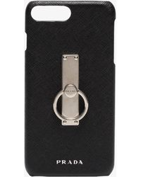 Prada - Black Keyring Iphone 8 Plus Case - Lyst