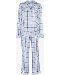 Rails Clara Checked Pajamas - Blue
