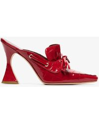 a7efd7ceb Gucci Lawrence Crystal Snake Mule in Pink - Lyst