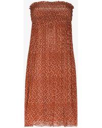Cloe Cassandro Billie Silk Midi Dress - Orange