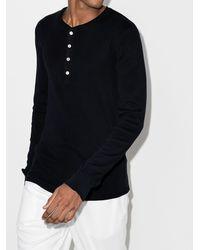 Schiesser Karl-heinz Buttoned T-shirt - Black