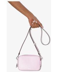Ganni Leather Camera Bag - Pink