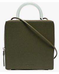 Building Block - Green Box Leather Shoulder Bag - Lyst