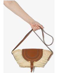Chloé Brown Marcie Small Basket Tote Bag - Multicolour