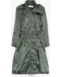 Chloé Hooded Parka Coat - Green