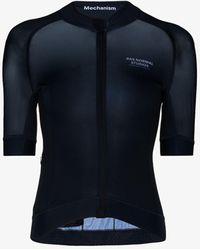 Pas Normal Studios Mechanism Zip Cycling Jersey - Blue