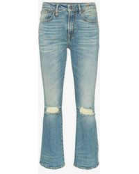 R13 - Kick Fit Ripped Knee Cotton-blend Jeans - Lyst
