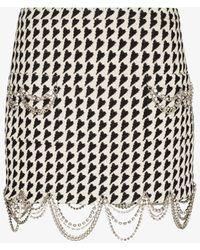 Area Draped Chain Mini Skirt - Black