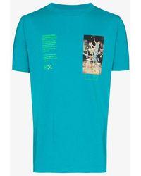 """Off-White c/o Virgil Abloh Oversized """"golden Ratio"""" T-shirt - Blue"""