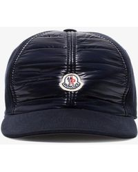 18c0e456ced3 Lyst - Moncler Navy Logo Baseball Cap in Blue for Men
