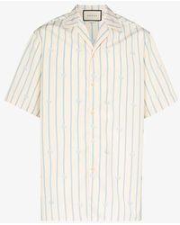 Gucci GG-print Bowling Shirt - White