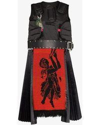Chopova Lowena Guard Sleeveless Belted Mini Dress - Black