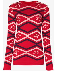 Perfect Moment Maze Ski Base Layer Top - Red