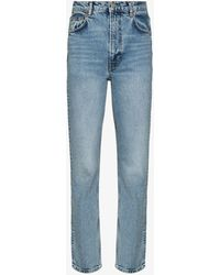 Reformation Liza Ultra High Waist Jeans - Blue