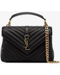 Saint Laurent - Black Collège Medium Leather Shoulder Bag - Lyst