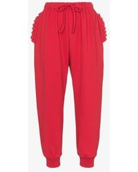 Simone Rocha Frill-trimmed Trackpants - Red