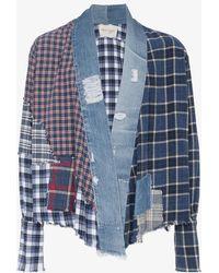 Greg Lauren - Patchwork Kimono Shirt Jacket - Lyst