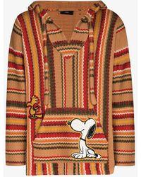 Alanui X Peanuts Stripe Appliqué Hoodie - Multicolor
