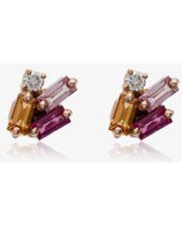 Suzanne Kalan 18kt Gold And Sapphire Stud Earrings - Metallic