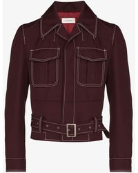 Wales Bonner Hanover Buckled Military Jacket - Red