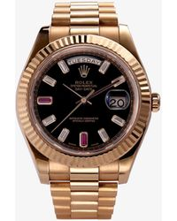 Rolex 2010 Pre-owned Oyster Perpetual Day-date Watch - Metallic