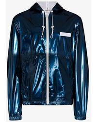 Givenchy Hooded Windbreaker Jacket - Blue