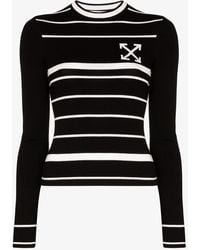 Off-White c/o Virgil Abloh Double-arrow Knit Sweater - Black