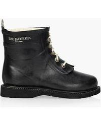 Ilse Jacobsen Short Rubberboot - Black