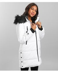 Steve Madden Puffer Coat - White