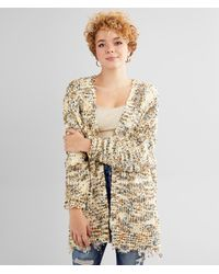 BKE Chenille Cardigan Sweater - Natural