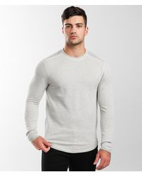 BKE Marled Crew Neck Pullover - Gray