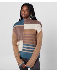RVCA Crossfire Mock Neck Sweater - Brown