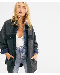 Free People Ruby Reverse Fleece Jacket - Gray