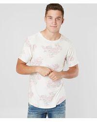 Rustic Dime Push Through Floral T-shirt - White